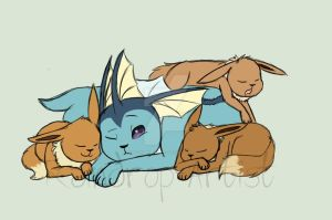 Pile of fluff by Raindrop-Artist