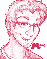 Markiplier Sketch by FluffleBear