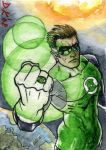 Green Lantern Sketch Card by DKuang