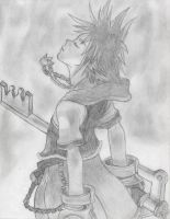 Sora sketch 1 by Hyrulekeyblade