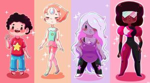 The Crystal Gems by liliwuzherex