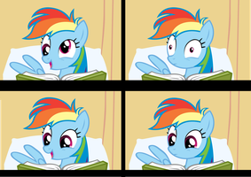 what's rainbow dash reading reaction set 1 by brainchildeats