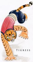 Tigress on one paw by Nerual-56