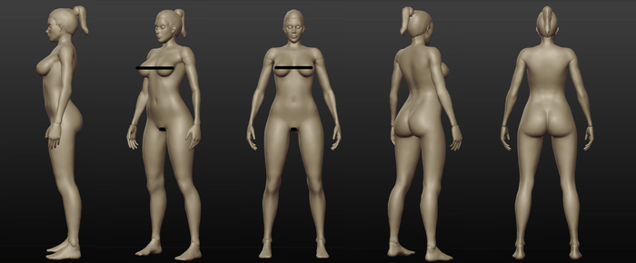 Female sculpt WIP - CENSORED by spectra-unknown