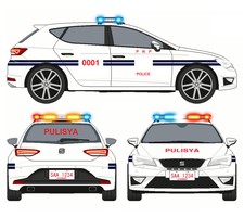 Philippines Police Car (SEAT Leon Cupra) by kyuzoaoi