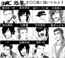 Kojuurou and Masamune Style MEME. by Heller45