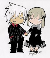 Soul and Maka Chibis by Shanachie-fey