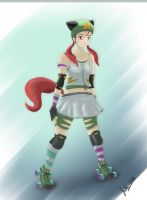 Roller Derby Girl by julXart