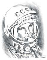 Yuri Gagarin by D-MAC