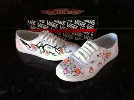 Cherry Blossom Vans New by VeryBadThing