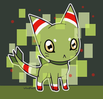Digimon creature thing by Chigle
