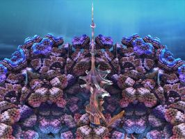 Coral Undine Tower by catelee2u