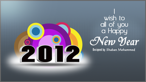 2012 Happy New Year by shaban-mohammed