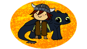hiccup and toothless by ichadoggi