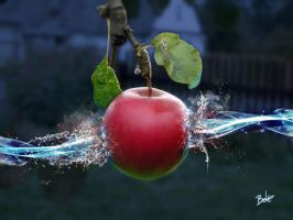 Exploding Apple by B-O-K-E