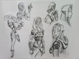 sketches Tali (79) by spaceMAXmarine