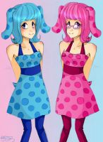 Blue and Magenta by kagomelovesinu