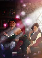 at the library by emedeme