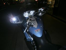 motorcycle at night 4 by LuchareStock