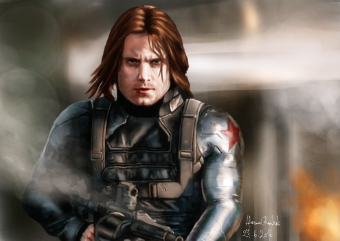 Bucky Barnes / Winter Soldier by Greyrose-Madness