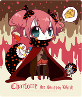 Charlotte the Sweets Witch : chibi : by 7-8jf