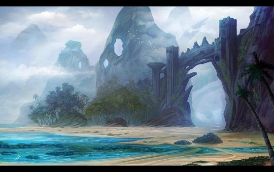 Island Ruins by AlynSpiller