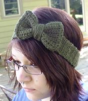 Bow Headband in Moss by LiebeTacos