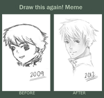 Draw This Again 2009vs2012 by Duduru