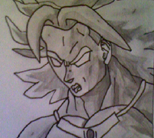 DragonBall Z - Broly (quick sketch) by LamePie