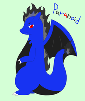 Paranoid the Blue Charizard by XDTheServine