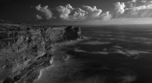 Kurnell Cliff face - IR by HarryZero