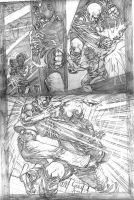 The Monk pencils pg 4 by stockyboy