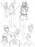 P3 face doodles thinger by SandraMJ