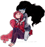 Marceline Bubblegum by HannaKN