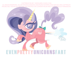 Even Pretty Unicorns Fart by MissChatZ