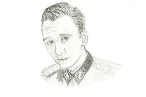 Michael Fassbender in Inglourious Basterds by chrissybob777