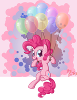 Pinkiepie's hovering by LordYanYu