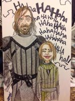 Arya and The Hound by AmandaRachels