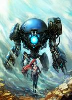 -Robobo01 and Girl- by R-SRaven