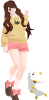 [MMD] Bee And PuppyCat by denisse-san