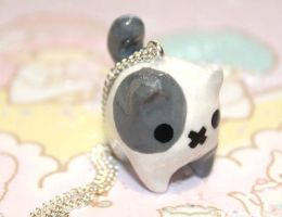 Kawaii chibi Tubby Kitty Necklace by SprinkleChick