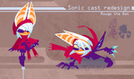 Sonic Redesign- Rouge by Nerfuffle