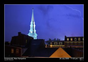 Lightning and the North Church by PhotographyByIsh