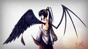 Akeno's Wings - Highschool DxD by ManNamedGeorge