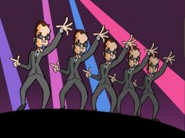 Agent Smith Boy Band by tobaguy