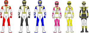 mmpr season 2 reimagined suits by TimmyTim1