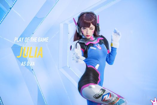 D.Va cosplay by Julia-MiFei