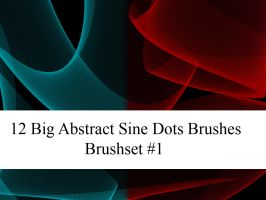 Big abstract Sine Dots Brushes by Tillhaug