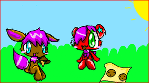 Iscribble:With Lucky x3 by KikiTheKitty