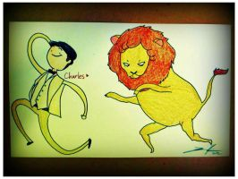 Adventure Time with Charles and Lion! by pixi996
